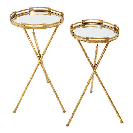 Sakina Tables Set of 2 Gold-Tone