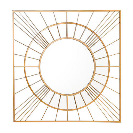 Raina Mirror  Gold-Tone