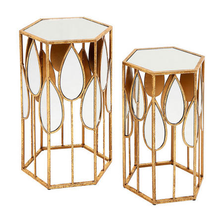 Vera Tables Set of Two Gold-Tone
