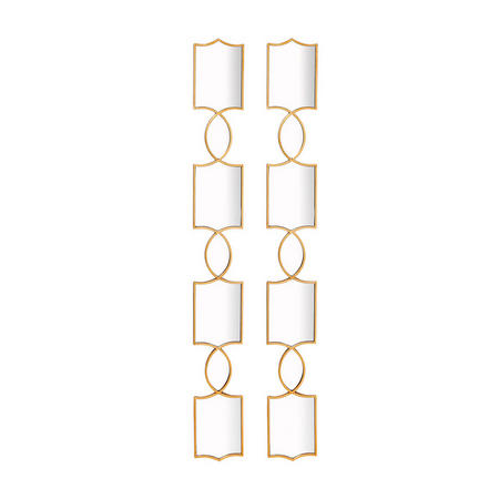 Zala Mirror Set of Two Gold-Tone