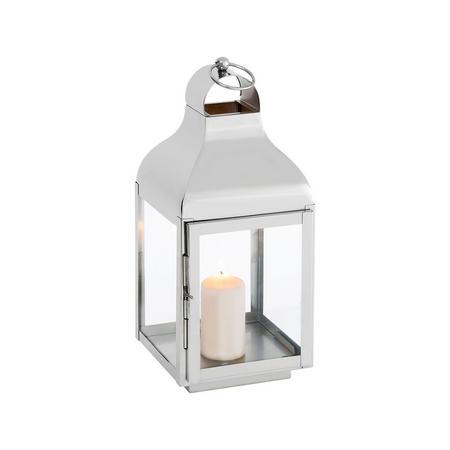 Delta Lantern Medium  Silver-Tone