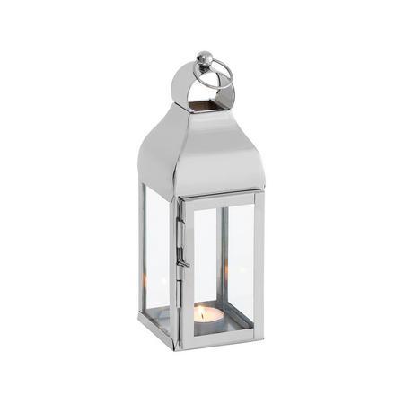 Delta Lantern Small Silver-Tone