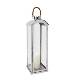 Haylee Lantern Large Silver-Tone