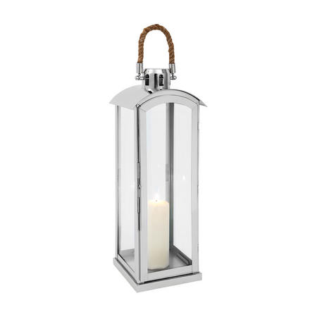 Haylee Lantern Medium Silver-Tone