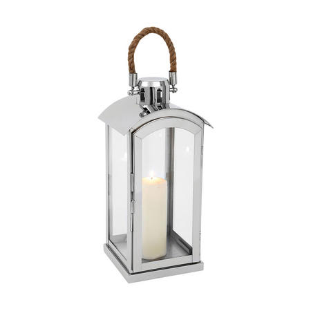 Haylee Lantern Small Silver-Tone