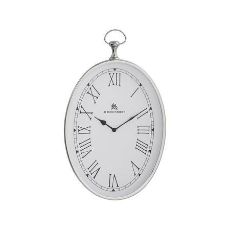 Lynn Clock  Silver-Tone
