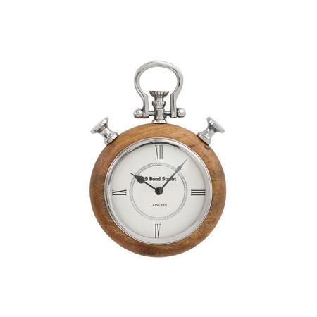 Kacey Clock  Silver-Tone