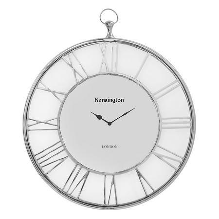 Caylee Clock  Silver-Tone