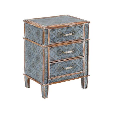 Alisha Three Drawer Locker Blue