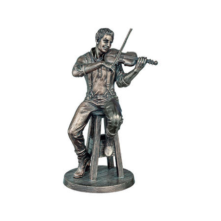 The Fiddle Player Bronze-Tone