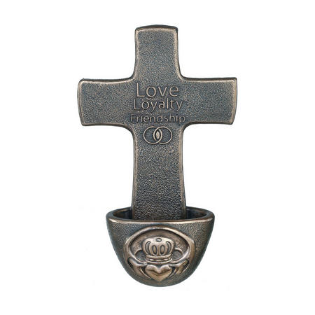 Claddagh Holy Water Font Bronze-Tone