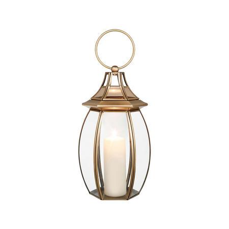 Orla Lantern Small Gold-Tone