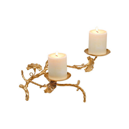 Abbey Candle Holder Double  Gold-Tone