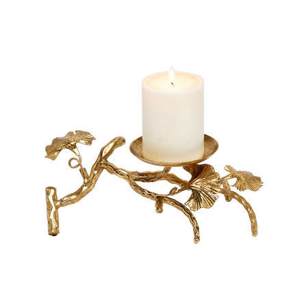 Abbey Candle Holder Single  Gold-Tone