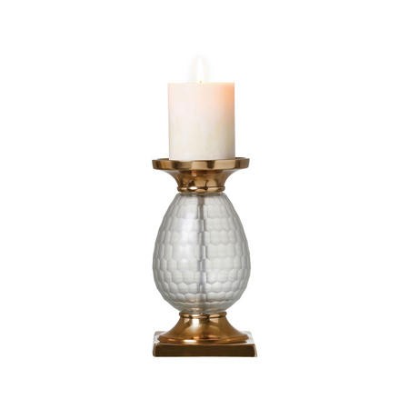 Cora Candle Holder Small Brass-Tone