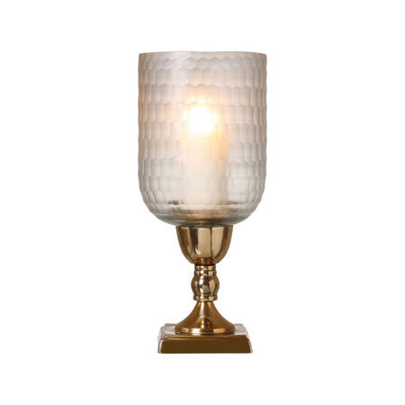 Elara Candle Holder Small Brass-Tone
