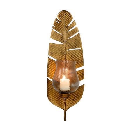 Leaf Wall Sconce Medium  Gold-Tone