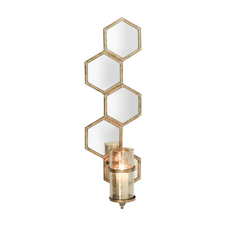Mirrored Wall Sconce Gold