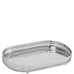 Christa Serving Tray Small Silver-Tone