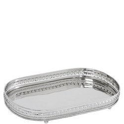Christa Serving Tray Large  Silver-Tone
