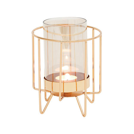 Jayda Candle Holder Small Gold-Tone