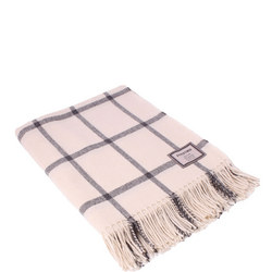 White and Grey Windowpane 3389B2 Throw