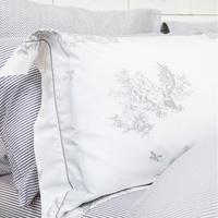 Toile Print Oxford Pillowcase Silver-Tone