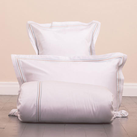 Sateen 3 Row Oxford Pillowcase Blue