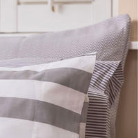 5Cm Stripe Pillowcase Silver-Tone