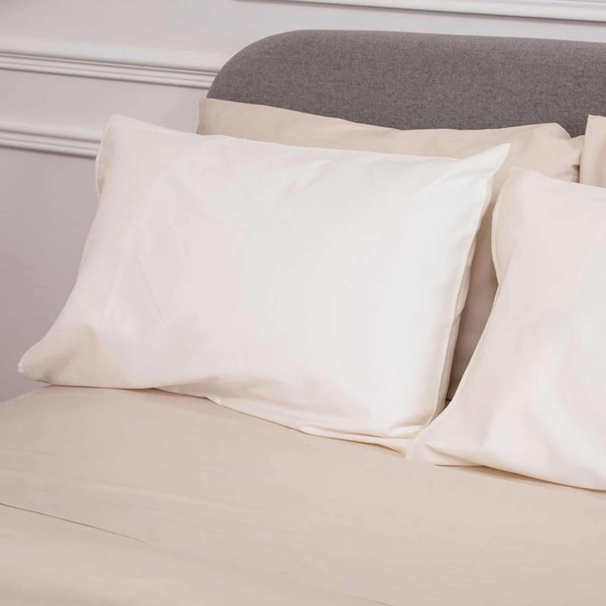 5617CREAMSATEENPCWHITE: Sateen Pillowcase