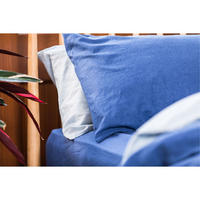 Indigo Cotton/Linen Pair Standard Pillowcase Pair