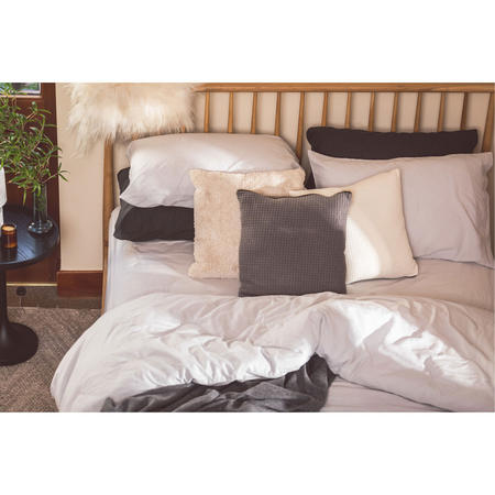 Silver Cotton/Linen Pair Standard Pillowcase Pair