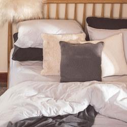 Silver Cotton/Linen Pair Standard Pillowcase Pair