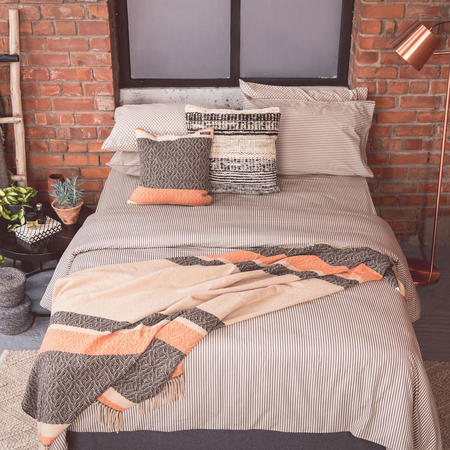 Black Stripe Coordinated Bedding