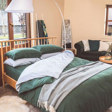 Green Cotton Coordinated Bedding