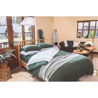 Green Cotton/Linen Duvet Cover