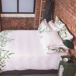 Leaf Panel Print Duvet Cover