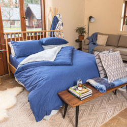 Indigo Cotton/Linen Duvet Cover