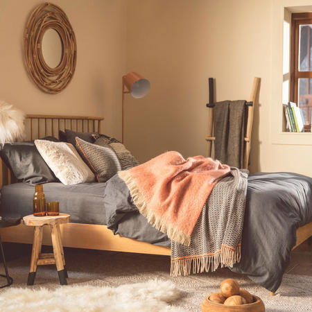 Smoke Cotton Coordinated Bedding