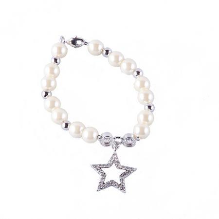 Ivory Bead Star Bracelet Multi Colour