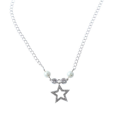 Ivory Bead Star Necklace Multi Colour