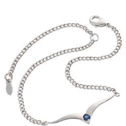 Sapphire Wave Bracelet