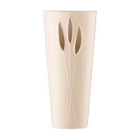 """Reeds 12"""" Vase White"""