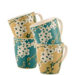 Bellevue 4 Mugs Set Multi Colour
