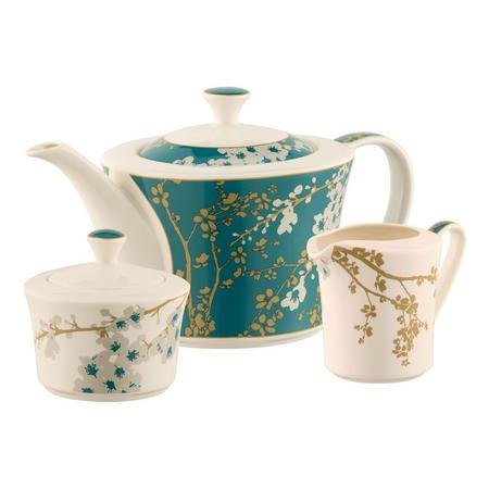 Bellevue Teapot, Sugar & Cream Set Multi Colour