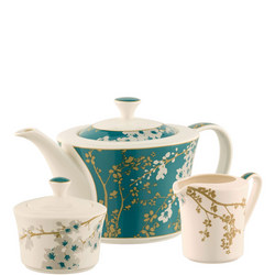 Bellevue Teapot, Sugar & Cream Set Multi Colour