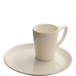 Atlantic Mug & Tray Set White