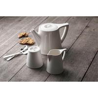 Atlantic Teapot, Sugar & Cream Set White