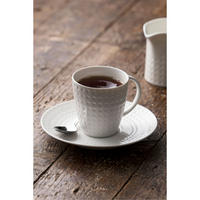 Grafton 4 Teacups & Saucers Set White