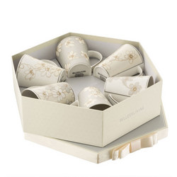 Bay Flowers Six Piece Mug Hexagon Box